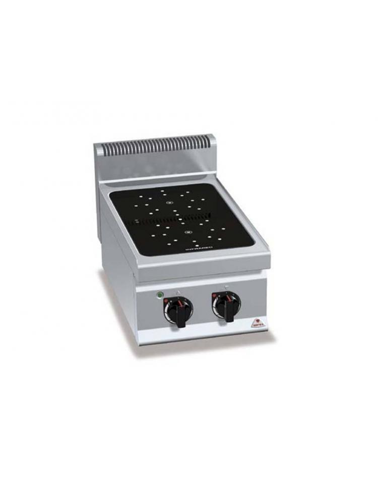 Cucina ad infrarosso 4 zone   forno elettrico 1/1   profondità 70 ...
