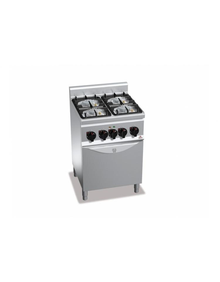 Cucina A Gas 4 Fuochi Su Forno El 1 1 Media Potenza