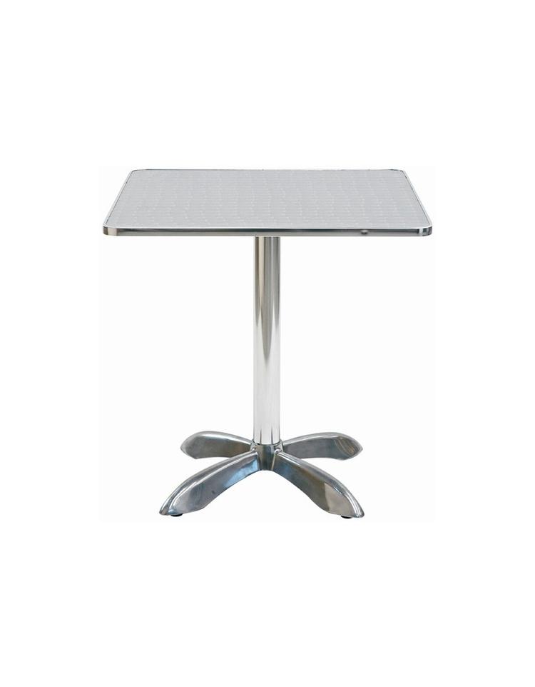 Tavolo quadrato cm 80x80 bar alluminio palo centrale for Tavolo quadrato 80x80 allungabile