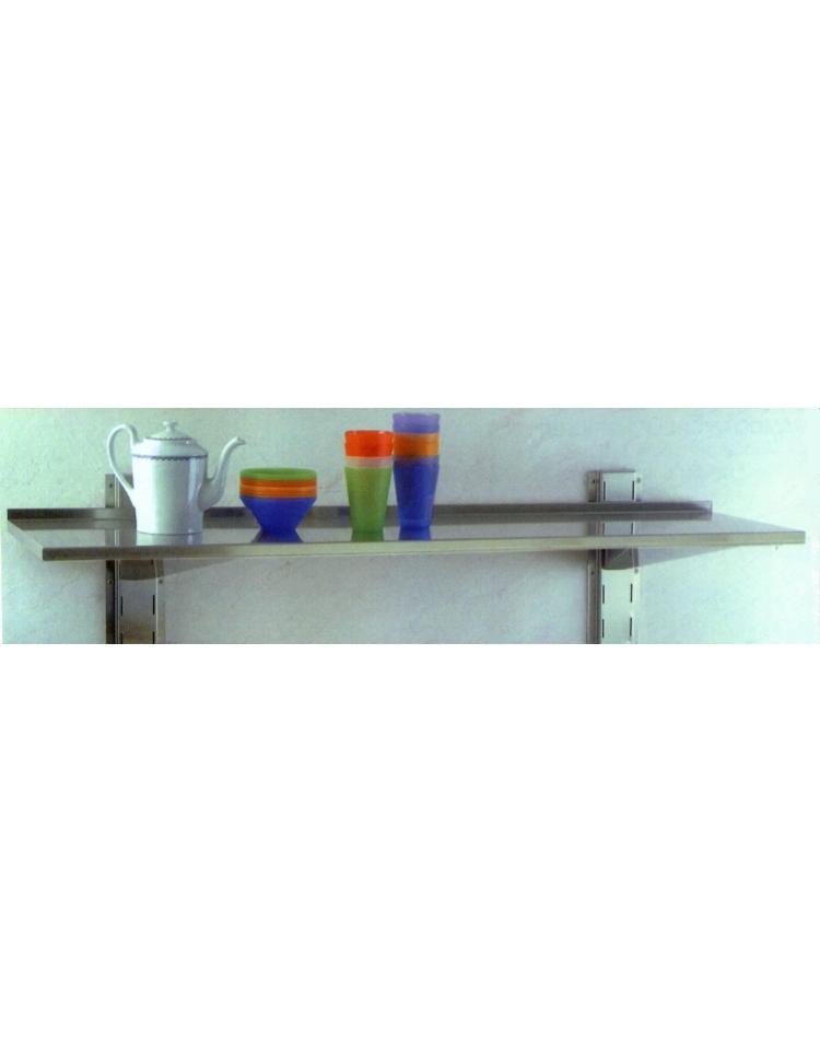 Mensola inox a muro dimensioni profondit 30 for Mensola 30 cm