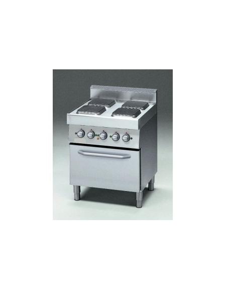 Cucina elettrica 4 piastre quadre con forno elettrico a - Cucina con piastre e forno elettrico ...