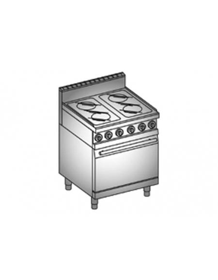 Cucina 4 piastre vetroceramica forno elettrico cucine - Cucina con piastre e forno elettrico ...