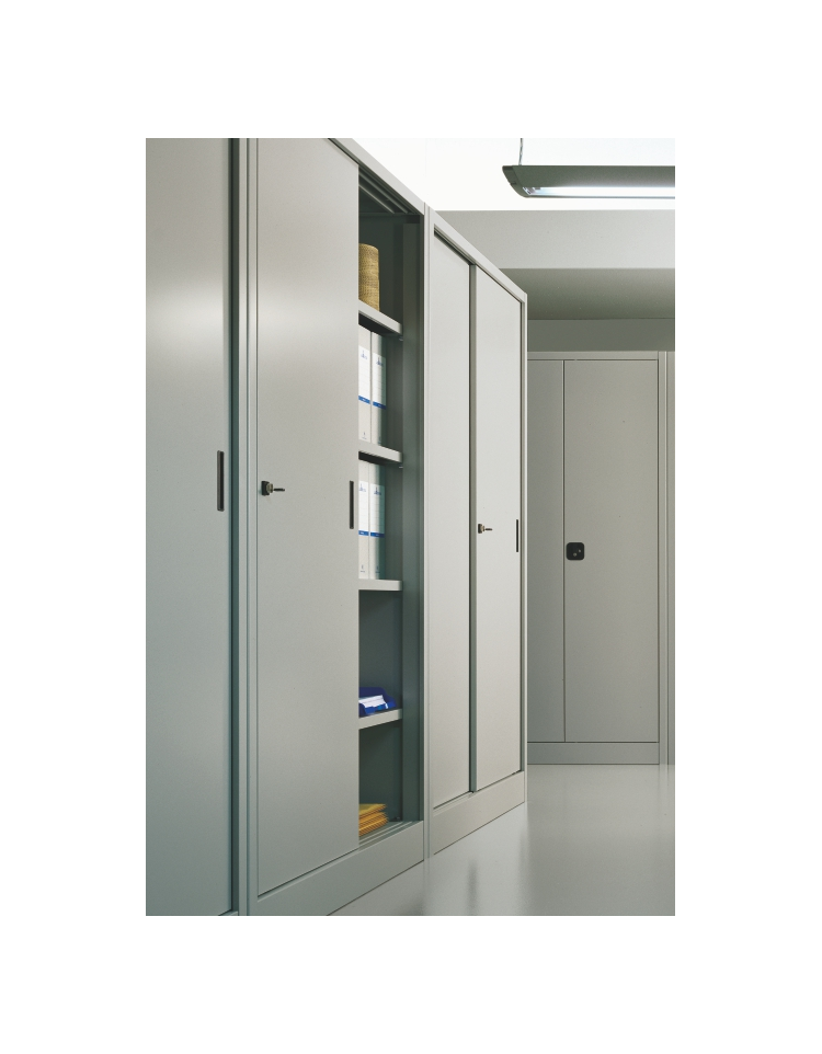 armadio metallico per ufficio con ante scorrevoli cm