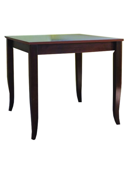 Tavolo ristorante legno massello noce cm 80x80x74h - Tavoli e sedie per pizzeria ...