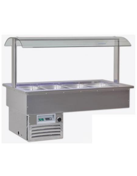 Vasche espositive da incasso refrigerate per pasticceria o piatti ...
