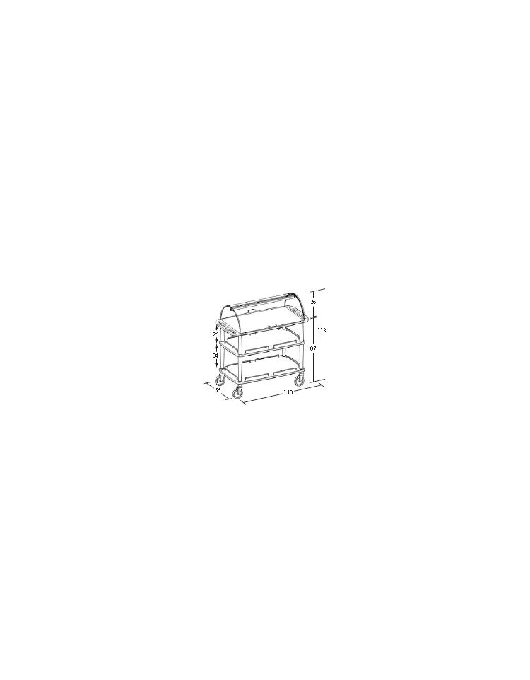 Carrello in legno 3 piani con cupola dimensioni cm for Piani di cupola pdf