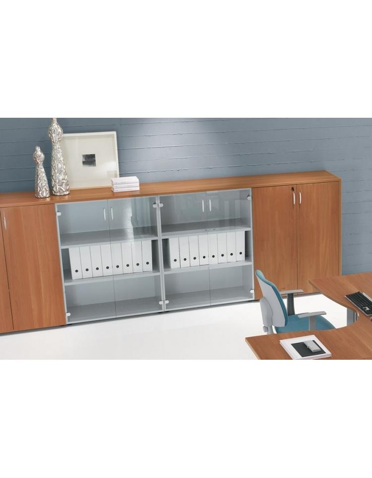 Mobile armadio medio per ufficio da cm 90 ante legno for Armadio per esterno 90 cm