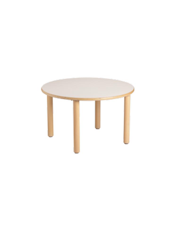 Tavolo Rotondo Piano Latte In Legno Diam Cm 128x53h