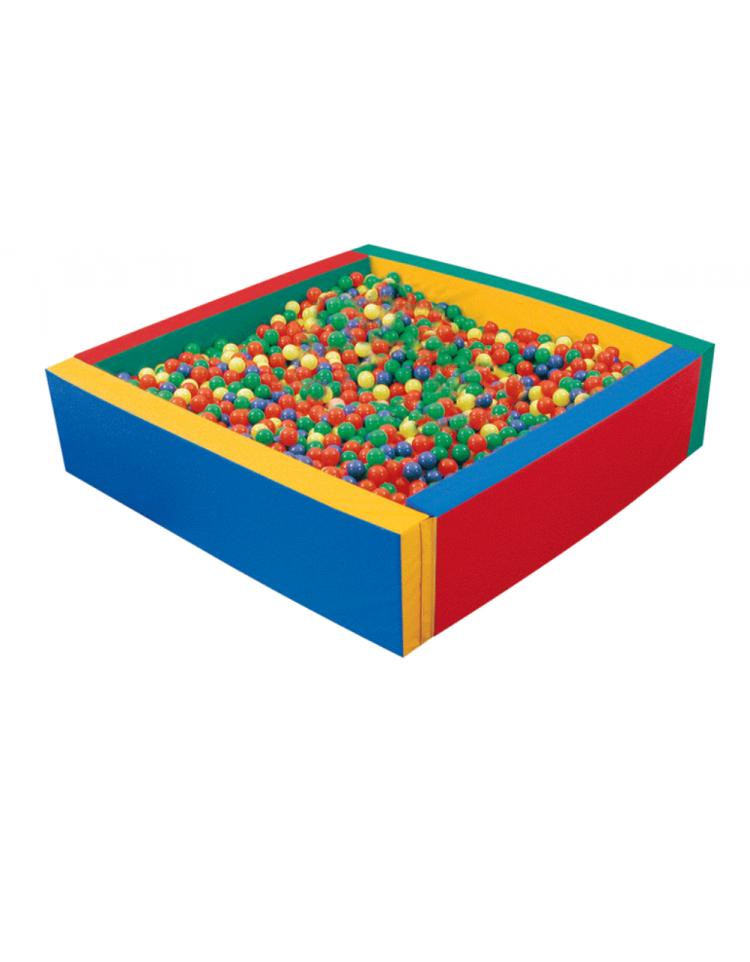 Vasche di palline giochi per bambini dina forniture for Piscina quadrata