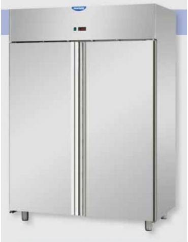 Armadio frigorifero inox ventilato 2 porte 2 8 c for Porte normale