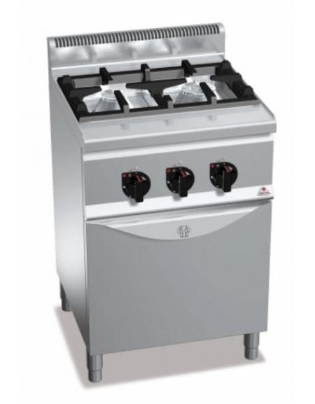 Cucina a gas 2 fuochi da 9 5 kw con forno a gas da 3 5 kw for Cucina 5 fuochi 70x60