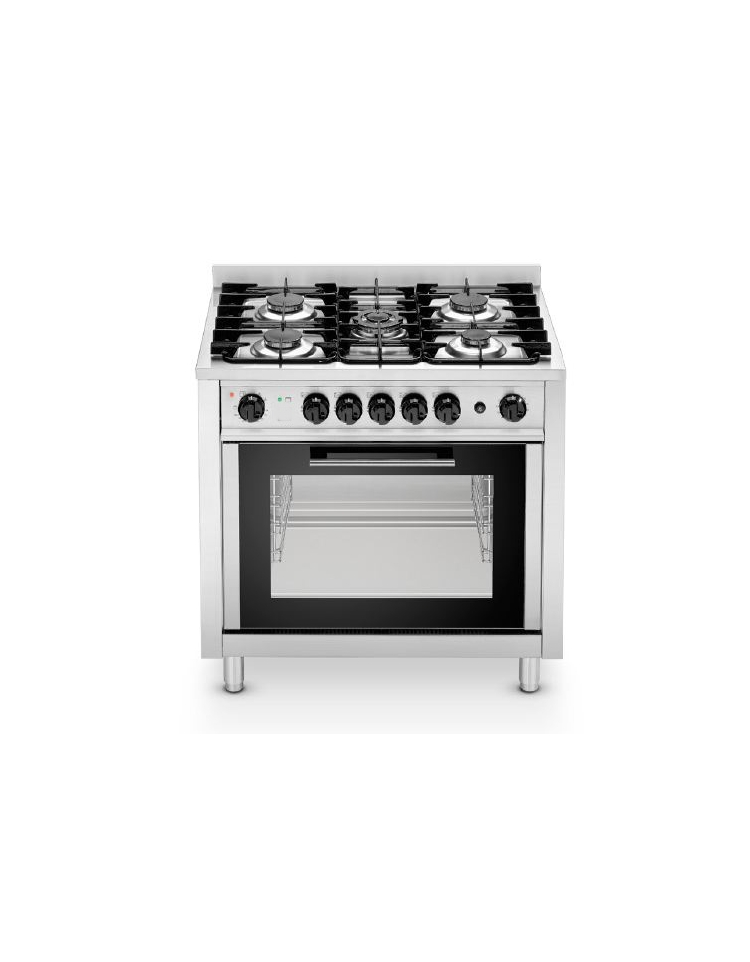 Cucina a gas 4 fuochi su forno a gas 1 1 media potenza - Cucina gas 5 fuochi ...