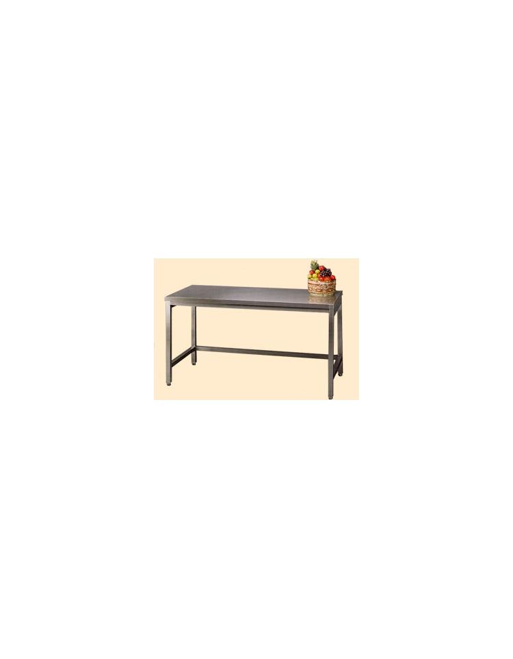 Tavolo inox con cornice su tre lati cm 150x60x85 90h profondit cm 60 senza alzatina - Tavolo profondita 60 cm ...
