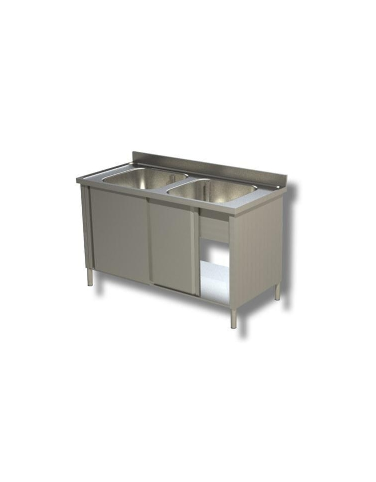 Lavello Inox Armadiato 2 Vasche Dimensioni Lavelli Armadiati Profondit 70 Cm