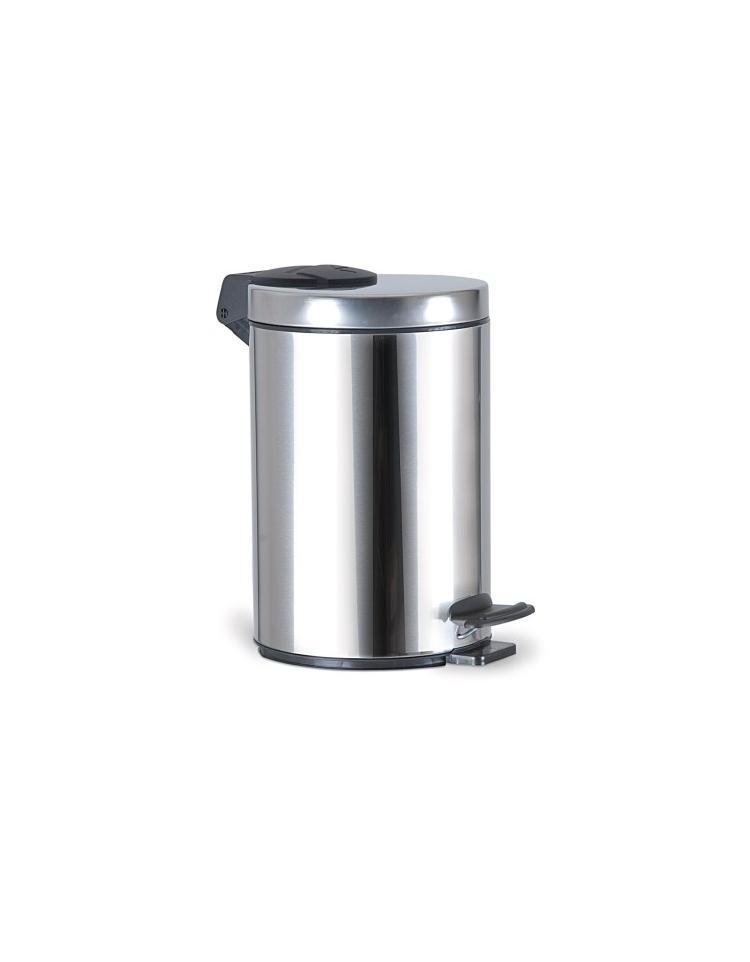 Secchio portarifiuti in acciaio inox 20l complementi d for Arredamento acciaio inox