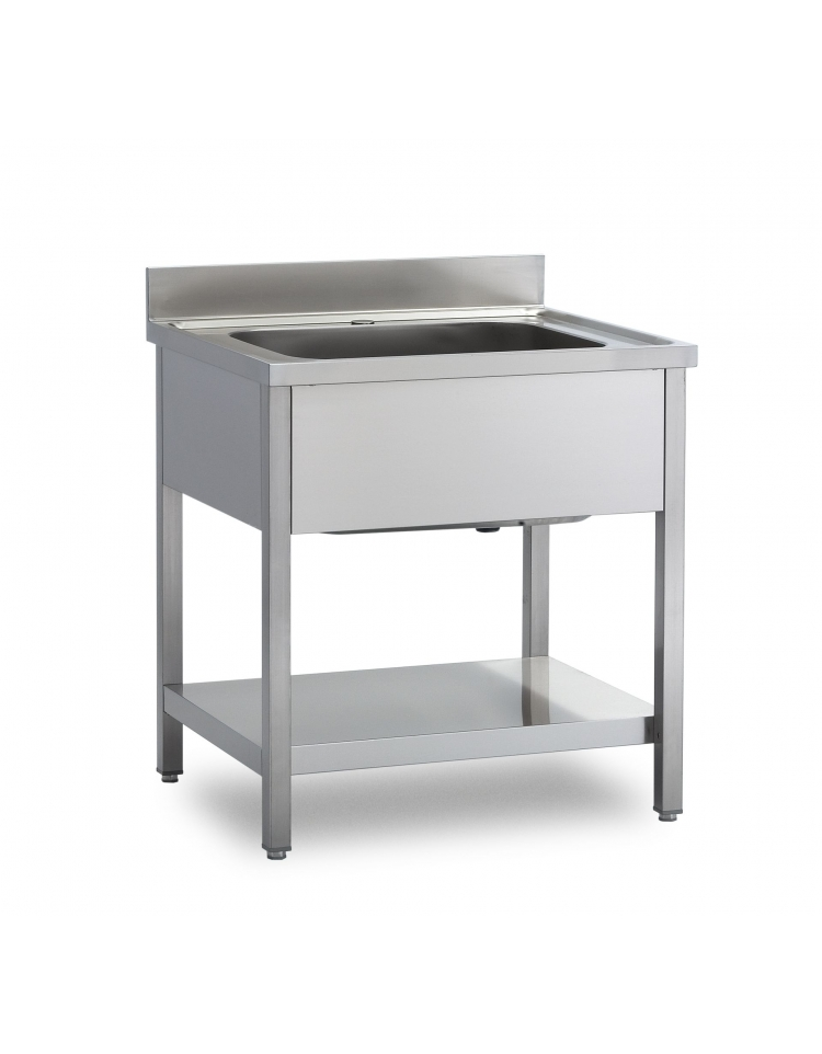 Lavello inox 1 vasca con ripiano dimensioni lavelli con ripiano di fondo - Lavello cucina profondita 40 ...