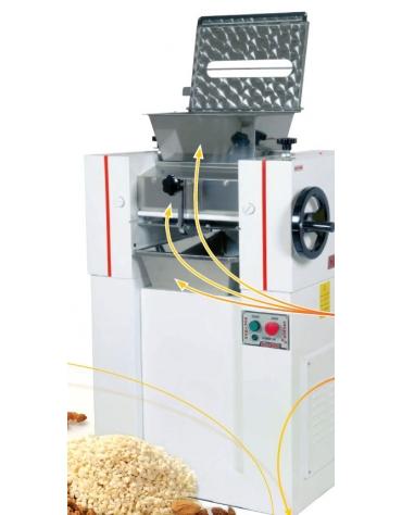 Raffinatrice per pasticceria a due cilindri