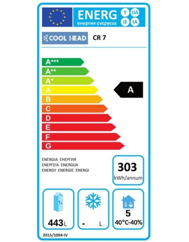 Armadio refrigerato GN 2/1 in acciaio inox AISi 304, refrigerazione ventilata, temperatura -2/+8°C - mm 1250x685x1435h
