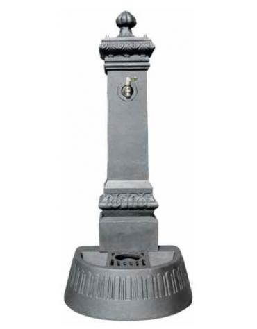 Fontana in ghisa con rubinetto cm. 41,5x46,5x110h