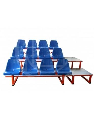 Tribuna 12 posti con schienale