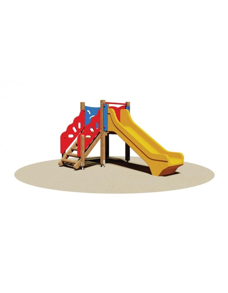 Torretta gioco in legno con scivolo in vetroresina per bambini for Scivolo per bambini ikea