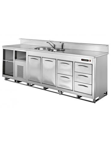 Banco bar refrigerato da cm. 200