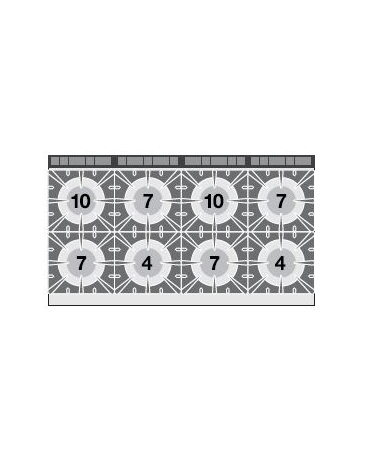 CUCINA 8 FUOCHI - 2 FORNI ELETTRICI STATICI GN2/1 cm. 160x 90x 90h