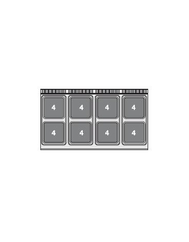 PIANO COTTURA TRIFASE SU MOBILE A GIORNO cm. 160x 90x 90h