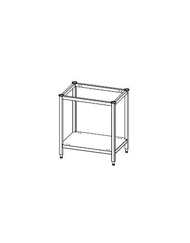 Supporto aperto forno  in acciaio inox  - 15 teglie GN1/1  -  Dimensioni: 92x63x90h