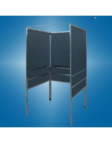 Cabina elettorale polifunzionale senza tendina