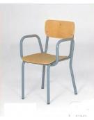 Poltroncina con braccioli sedile e spalliera faggio