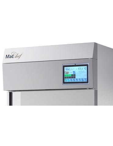 Armadio frigo climatico per la frollatura carne con controllo umidità e porta cieca Lt 700 -6°/+40°C- cm 72x80x202h
