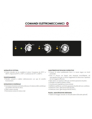 Forno combinato vapore professionale a gas per ristorante N° 5 Teglie GN 1/1 - Comandi elettromeccanici