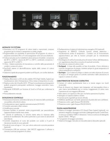 Forno combinato vapore professionale a gas per ristorante N° 10 Teglie GN 1/1 - Comandi touch screen