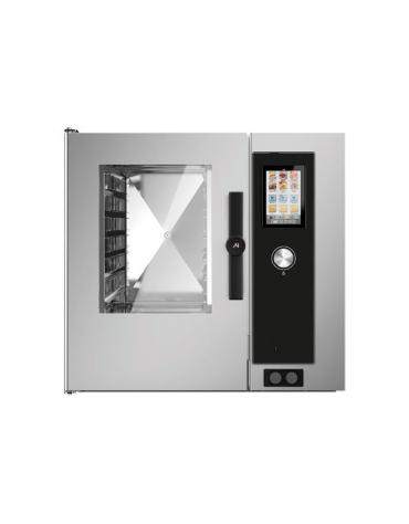Forno a convezione ventilato professionale a gas 7 teglie gn 1/1 - Comandi Touch Screen