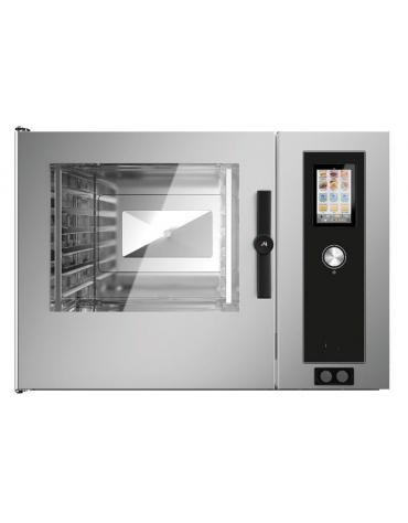 Forno a convezione ventilato professionale a gas 7 teglie gn 2/1 - Comandi Touch Screen