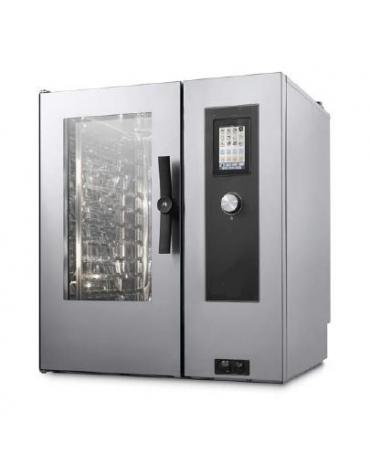 Forno a convezione ventilato professionale a gas 10 teglie gn GN 2/1 - Comandi Touch Screen