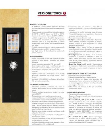 Forno a convezione ventilato professionale a gas 20 teglie gn GN 1/1 con carrello estraibile - Comandi Touch Screen