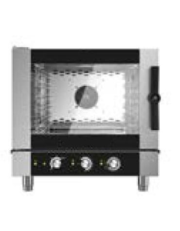 Forno combinato vapore professionale elettrico per ristorante N° 5 Teglie GN 1/1 - Comandi elettromeccanici