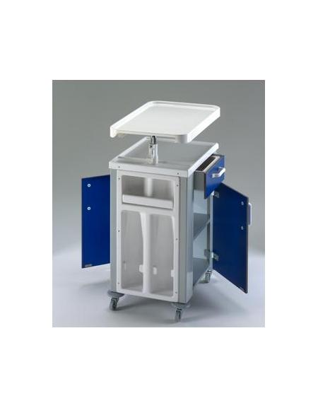 Comodino bifronte con cassetto e tavolo servipranzo for Arredamento sanitario