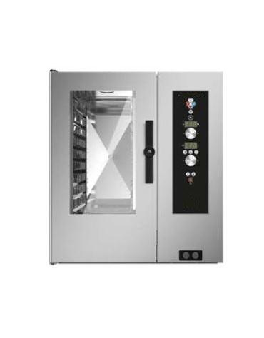 Forno a convezione ventilato professionale a gas 7 teglie gn 1/1 - Comandi Elettromeccanici - Con boiler