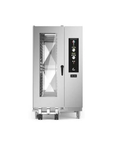 Forno a convezione ventilato professionale a gas 20 teglie gn 1/1 con carrello- Comandi Elettromeccanici - Con boiler