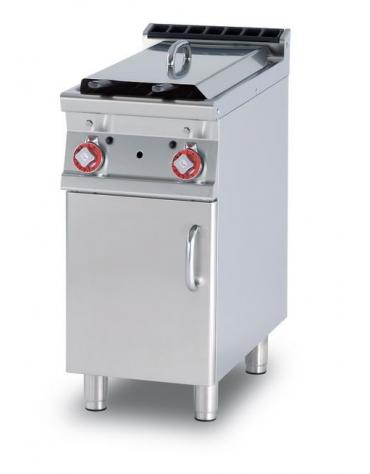 FRIGGITRICE GAS LT. 8+8 - 2 vasche cm. 15x35x36h - Prod. patate: 12 kg/h - CM. 40X90X90H.