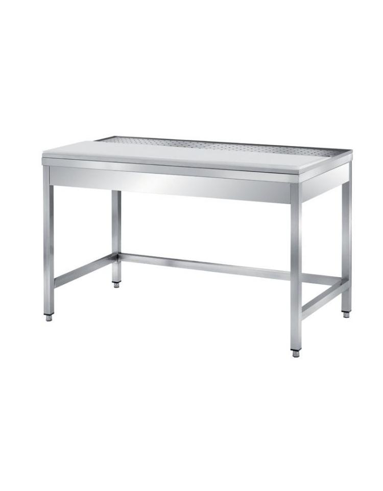 Tavolo Con Ripiano Raccogli Gocce 1 2 Piano Falso Fondo Forato 1 2 Piano In Teflon H 30 Cm 120x70x85h Dinaforniture It