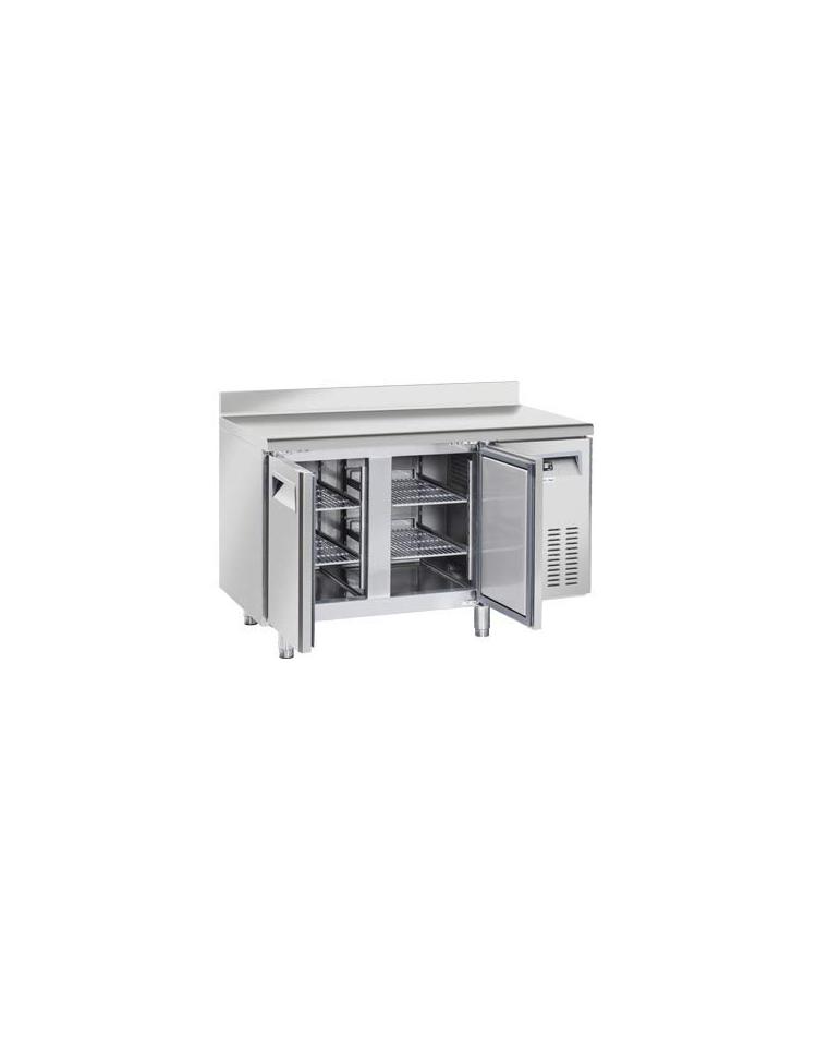 Tavolo refrigerato 2 porte con alzatina in acciaio inox ...