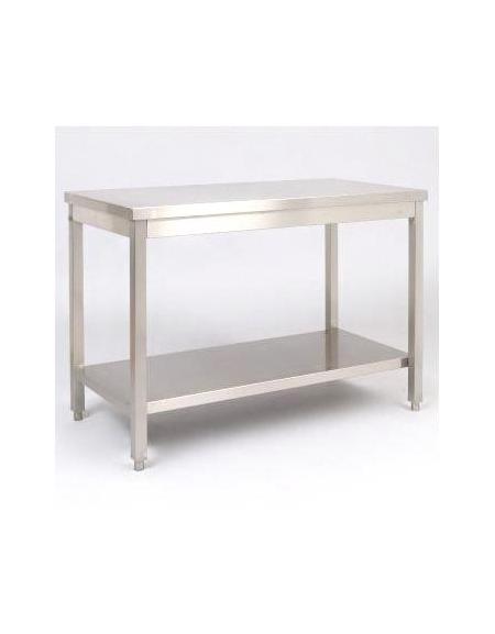 Tavolo in acciaio inox con ripiano Dimensioni cm.290x60x85 ...