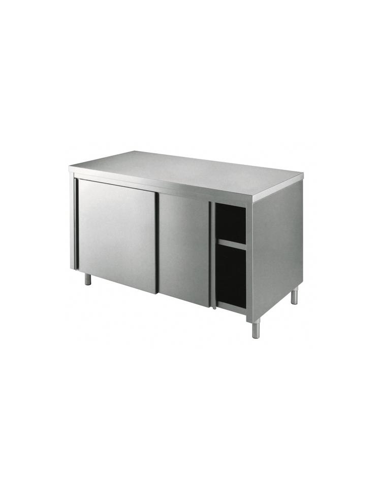 Tavolo armadiato inox dimensioni cm 240x60x85 90h piano di lavoro senza alzatina profondit - Tavolo profondita 60 cm ...