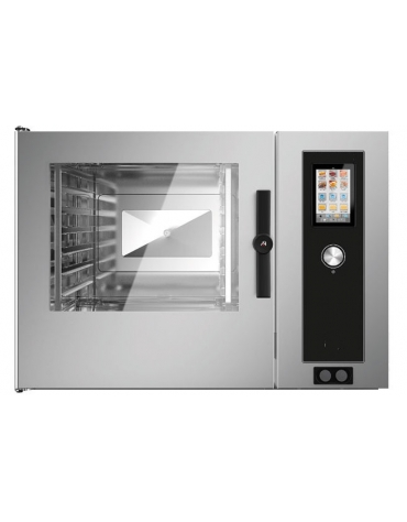 Forno a convezione ventilato professionale elettrico 7 teglie gn 2/1 - Comandi Touch Screen