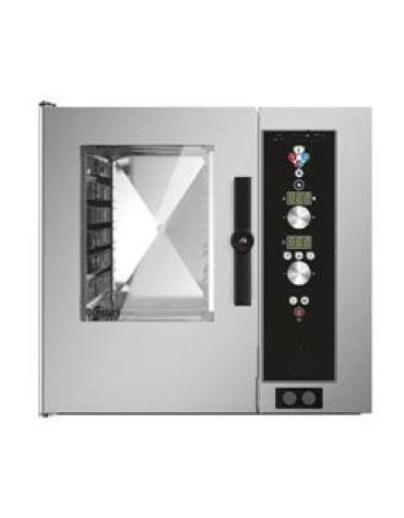 Forno a convezione ventilato professionale a gas 10 teglie gn 2/1 - Comandi Elettromeccanici - Con boiler