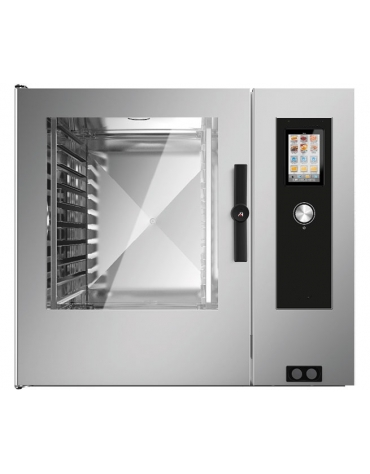 Forno a convezione ventilato professionale elettrico 7 teglie gn 1/1 - Comandi Touch Screen
